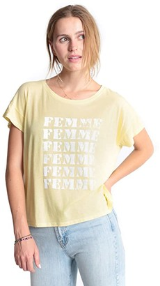 good hYOUman Claire Femme Tee (Glowstick) Women's Clothing