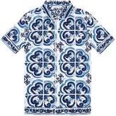 Dolce & Gabbana Majolica Print Pyjama Shirt, White, 2
