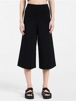 Calvin Klein Platinum Matte Wide Leg Pants