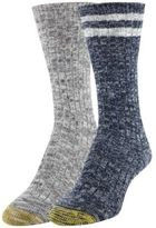 Gold Toe Women's 2-Pk. Textured Crew Socks