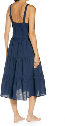 Nordstrom Romantic Swiss Dot A-Line Nightgown