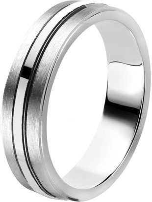 Orphelia Unisex Silver Wedding Ring Ring Size 64 (20.4) OR9844/5/A1/64