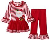 Rare Editions Baby Girl Santa Top & Tutu Skirt Set