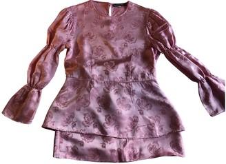 ALEXACHUNG Alexa Chung Pink Silk Tops