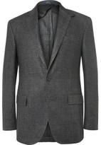 Polo Ralph Lauren Grey Slim-Fit Puppytooth Linen Blazer