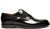 Fendi Elasticated front leather derby shoes