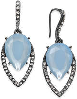 INC International Concepts Hematite-Tone Pavé & Blue Stone Drop Earrings, Created for Macy's