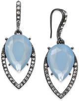 INC International Concepts I.N.C. Hematite-Tone Pavé & Blue Stone Drop Earrings, Created for Macy's
