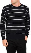Ami Men Oversized Crew Neck Sweater Striped