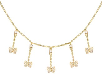 Adina's Jewels Multi Butterfly Necklace