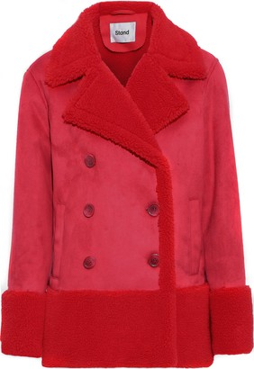Stand Studio Johanne Double-breasted Faux Shearling Coat
