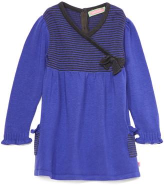 SAM. Sophie & Girls' Sweater Dresses PURPLE - Purple & Black Stripe Surplice Tunic - Infant & Toddler