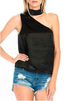 Olivaceous Satin Choker Tank