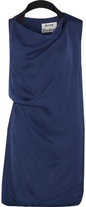 Acne Studios Rebecca Gathered Satin Mini Dress