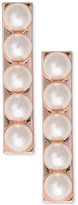 INC International Concepts Robert Rose for Rose Gold-Tone Imitation Pearl Bar Drop Earrings, Only at Macy's