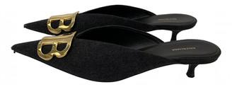 Balenciaga BB Grey Cloth Sandals