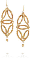 Chan Luu 14-karat gold-vermeil earrings