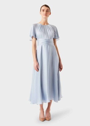 Hobbs Mira Satin Fit And Flare Dress