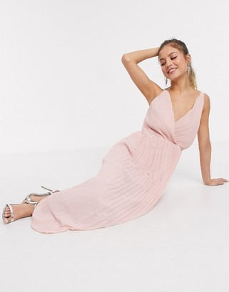 Chi Chi London Chi Chi Bernie maxi dress in mink
