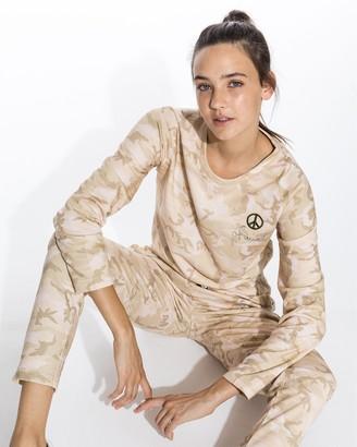 Nicole Miller Camo Crew Neck Sweatshirt