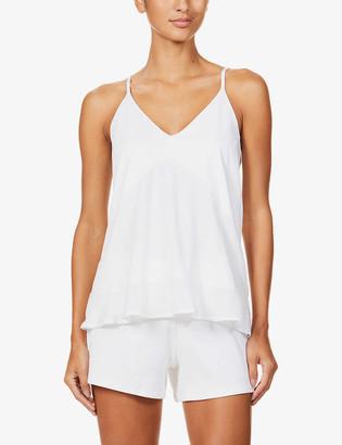 Skin Julia flared-hem cotton camisole