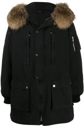 Amiri full-length hooded fur parka coat