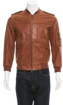 Marc by Marc Jacobs Leather Bomber Jacket