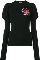 Dolce & Gabbana floral embroidered sweater - women - Polyamide/Polyester/Viscose/Virgin Wool - 38
