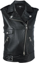 Versus leather gilet - women - Lamb Skin/Spandex/Elastane/Viscose - 42