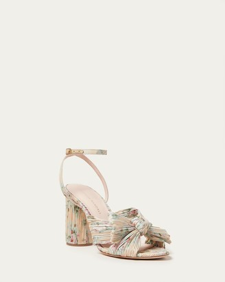 Loeffler Randall Camellia Tan Floral Bow Heel