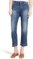 DL1961 Women's Patti High Waist Crop Straight Leg Jeans