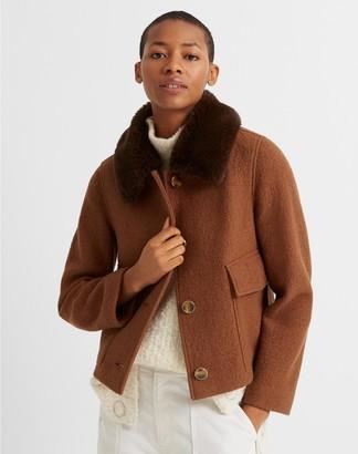 Club Monaco Faux Fur Collar Jacket