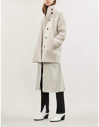 Samsoe & Samsoe Helle bouclé wool-blend coat