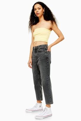 Topshop PETITE Grey Straight Leg Jeans