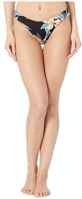 Roxy Print Beach Classics Full High-Leg Bikini Bottoms (Anthracite Tropicoco) Women's Swimwear