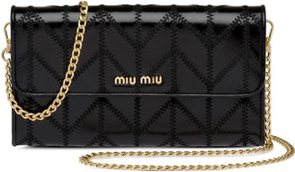 Miu Miu Tonal Stitching Wallet On Chain