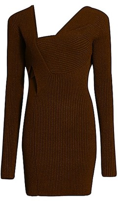 Bottega Veneta Wrapped Knit Silk-Blend Dress