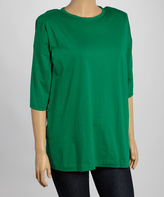 Le Mieux Green Elbow-Sleeve Tee - Plus