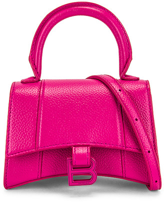 Balenciaga Mini Hourglass Bag in Fuchsia | FWRD