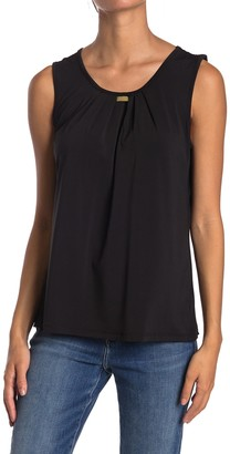 Love by Design Cappella Pleated Scoop Neck Sleeveless Top
