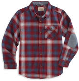 Lucky Brand Perma Red Plaid Elbow-Patch Button-Up - Boys