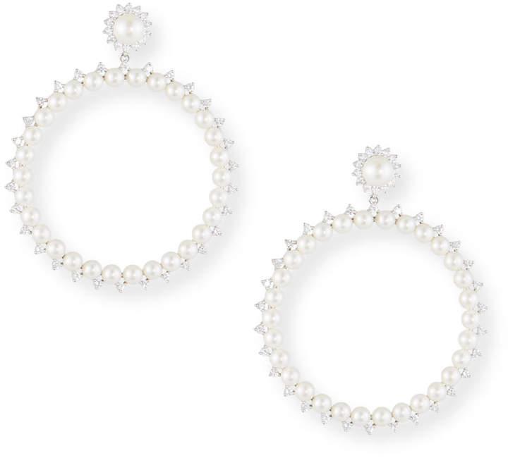 Fallon Pearly Drama Hoop Earrings
