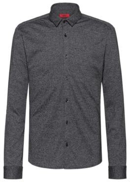 HUGO BOSS Extra-slim-fit shirt in textured cotton jersey
