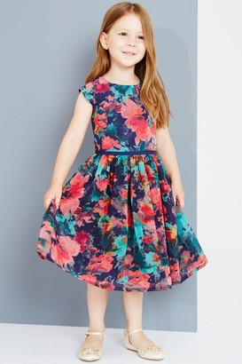 Little Misdress Little MisDress Autumn Flower Print Prom Dress