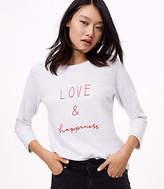 LOFT Love & Happiness Striped Sweatshirt