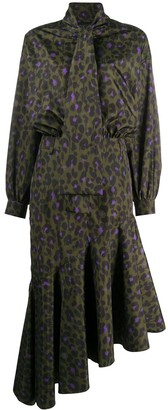 Boutique Moschino Asymmetric Leopard-Print Dress