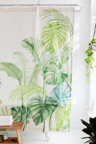 Urban Outfitters Watercolor Tropical Shower Curtain