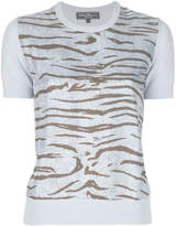 Salvatore Ferragamo tiger print knitted top