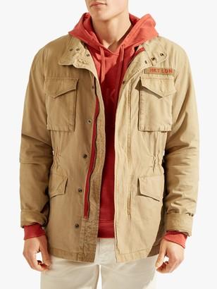 HKT Four-Pocket Workwear Jacket, Khaki