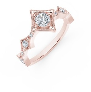 Forevermark Tribute Collection Diamond (1/2 ct. t.w.) in 18k Yellow, White and Rose Gold.